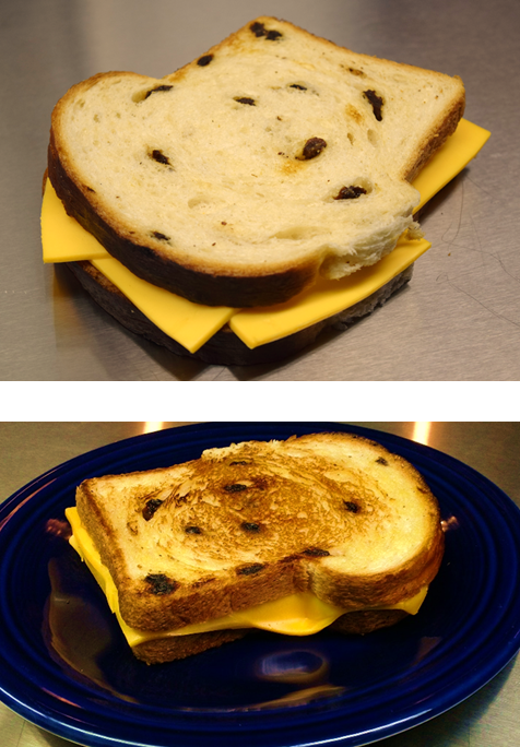 Grilled Cheese on Raisin