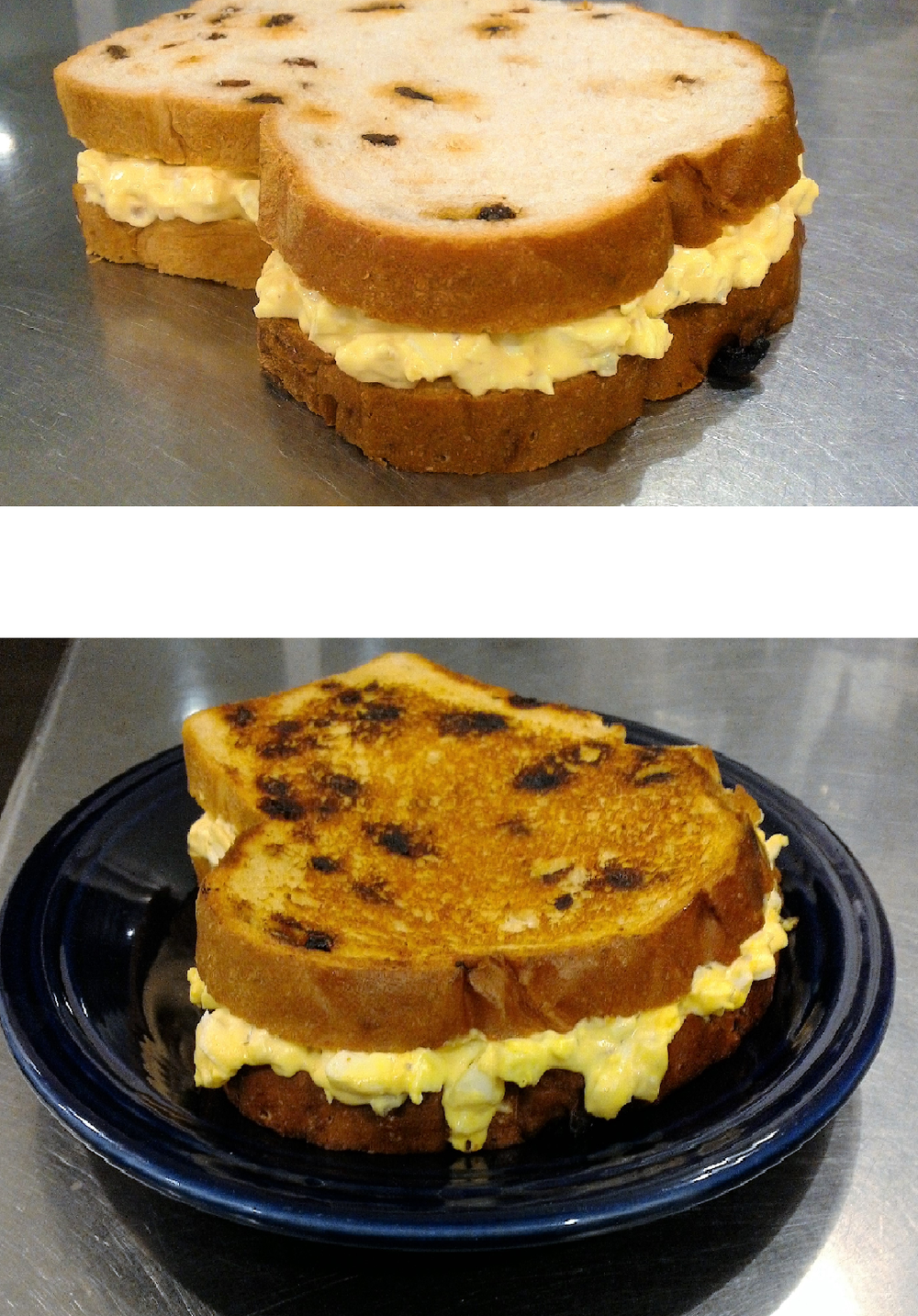 Egg Salad on Raisin