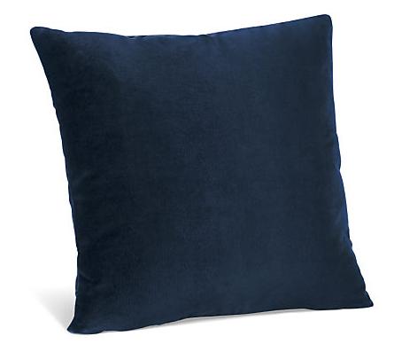 Room and Board - Velvet Pillow in Indigo