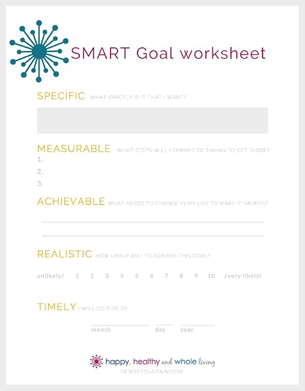 Download this free printable SMART goal worksheet!