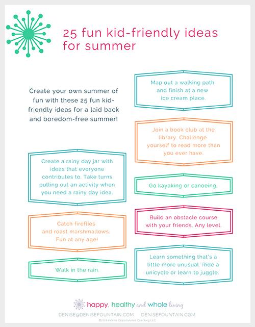 June 2018: 25 fun kid-friendly ideas for summer
