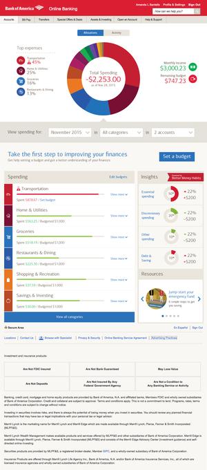online banking budget tool forrest plassmann