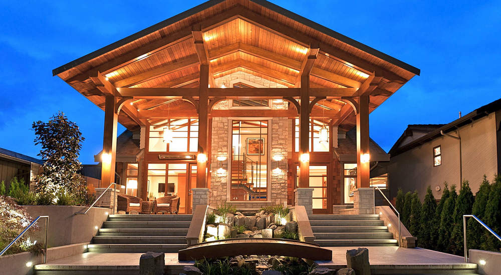 ERWIN DRIVE  A 5500 square foot West Coast custom home in West Vancouver. Architectural Interior design by Paul Butler Designs.  .  .