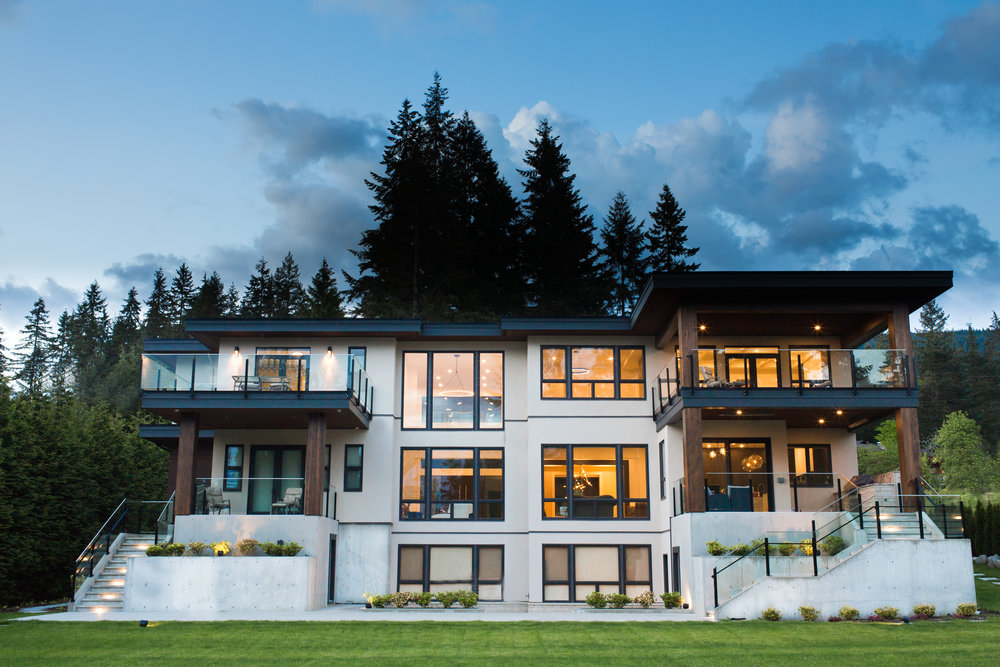 ELEMENTARY ROAD  A 8500 square foot modern luxury custom home in beautiful Anmore.  .