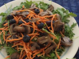 Arugula Mushroom Salad