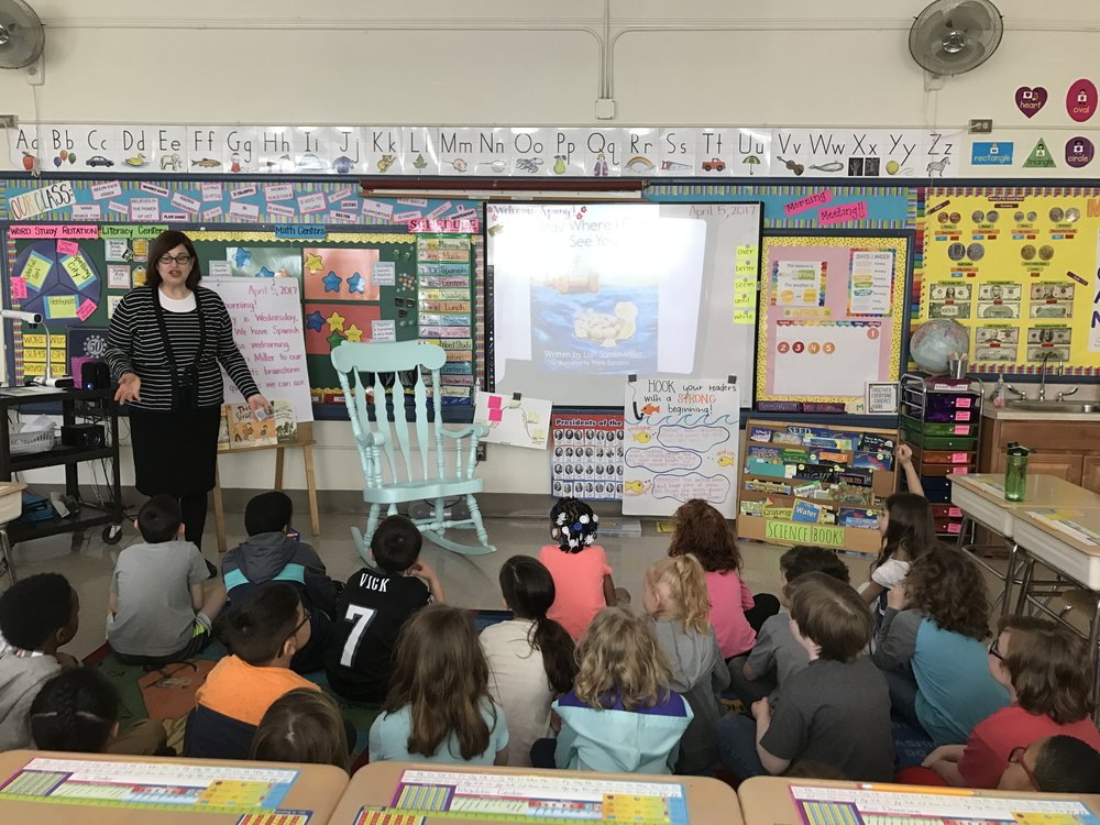 The Newbie School     On April 5, 2017 I shared  Stay Where I Can See You  with my new friends in Kindergarten, 1st, and 2nd grade at The Newbie School in Collingswood, NJ.