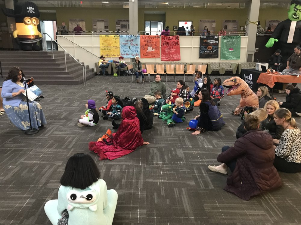 """Rowan University - Halloween 2018   In time for Halloween, I shared """"Stay Where I Can See You"""" at Rowan University's annual Student Center Haunted House. Enjoying the story and discussing the importance of safety while Trick or Treating were children and parents from the Glassboro area."""