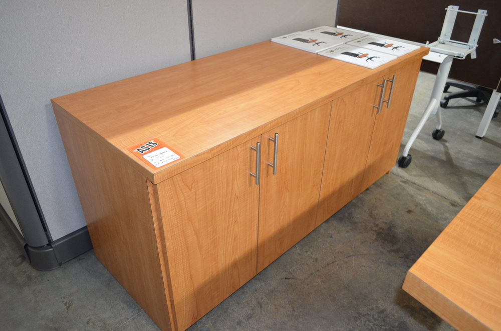 Copy of Credenza w/hinged doors Teak laminate Used ($250.00)