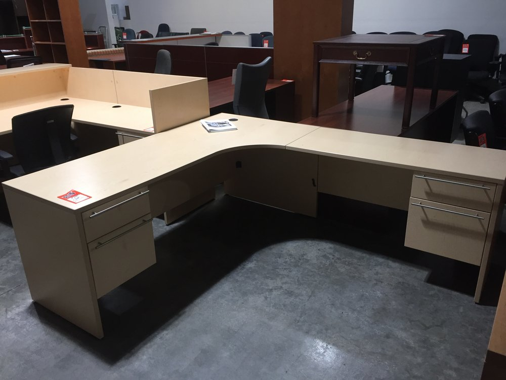 Copy of Maverick  72'' x 84'' Computer Desk with Box/ File Pedestals $300.00