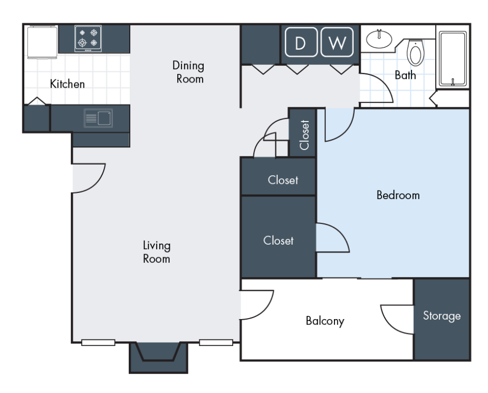 1 Bedrdoom | 1 Bathroom | 916 SF | From $905