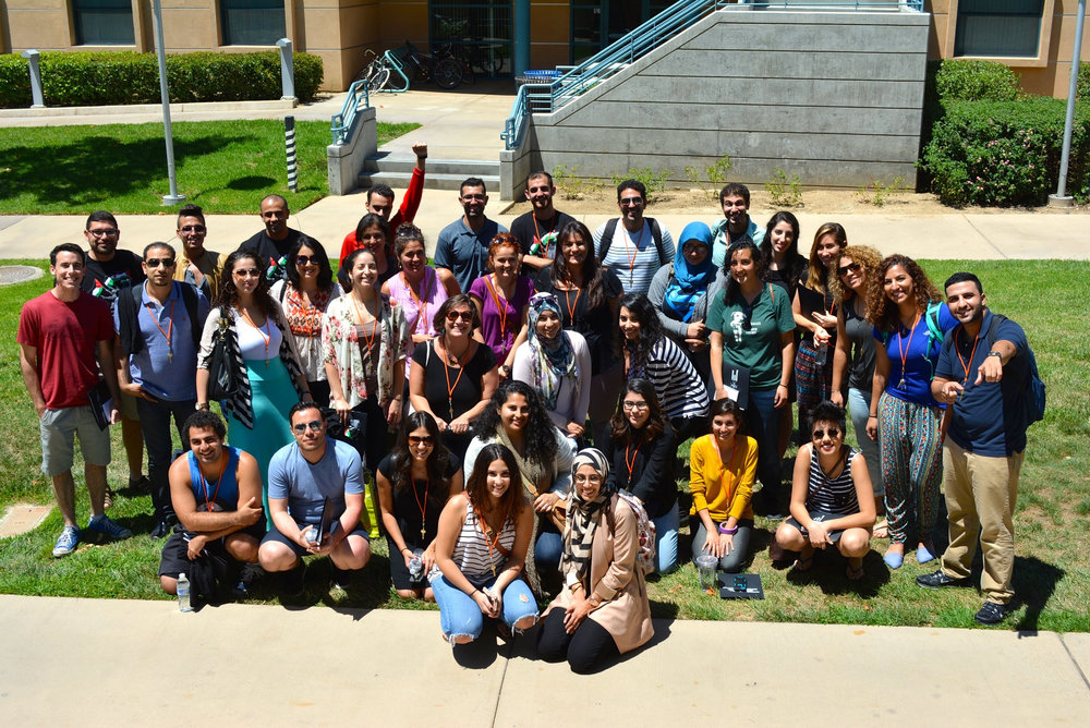 Above are photos from the 2015 Summer School where we engaged in a hike with the indigenous of Riverside California, did a spoken word/ creativity workshop, hosted a panel of Palestinian youth from '48, Gaza and West Bank among many other topics and discussions.