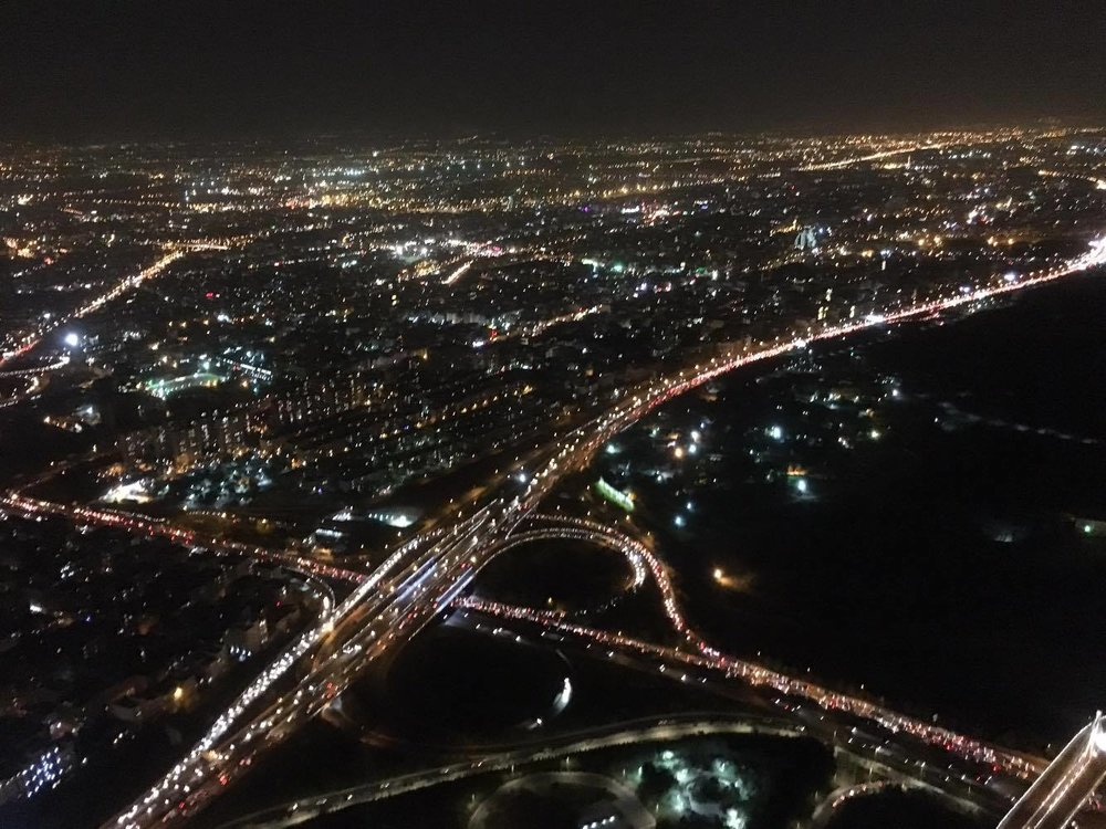 A view of Tehran from the world's sixth-tallest tower Borje Milad (Milad Tower)