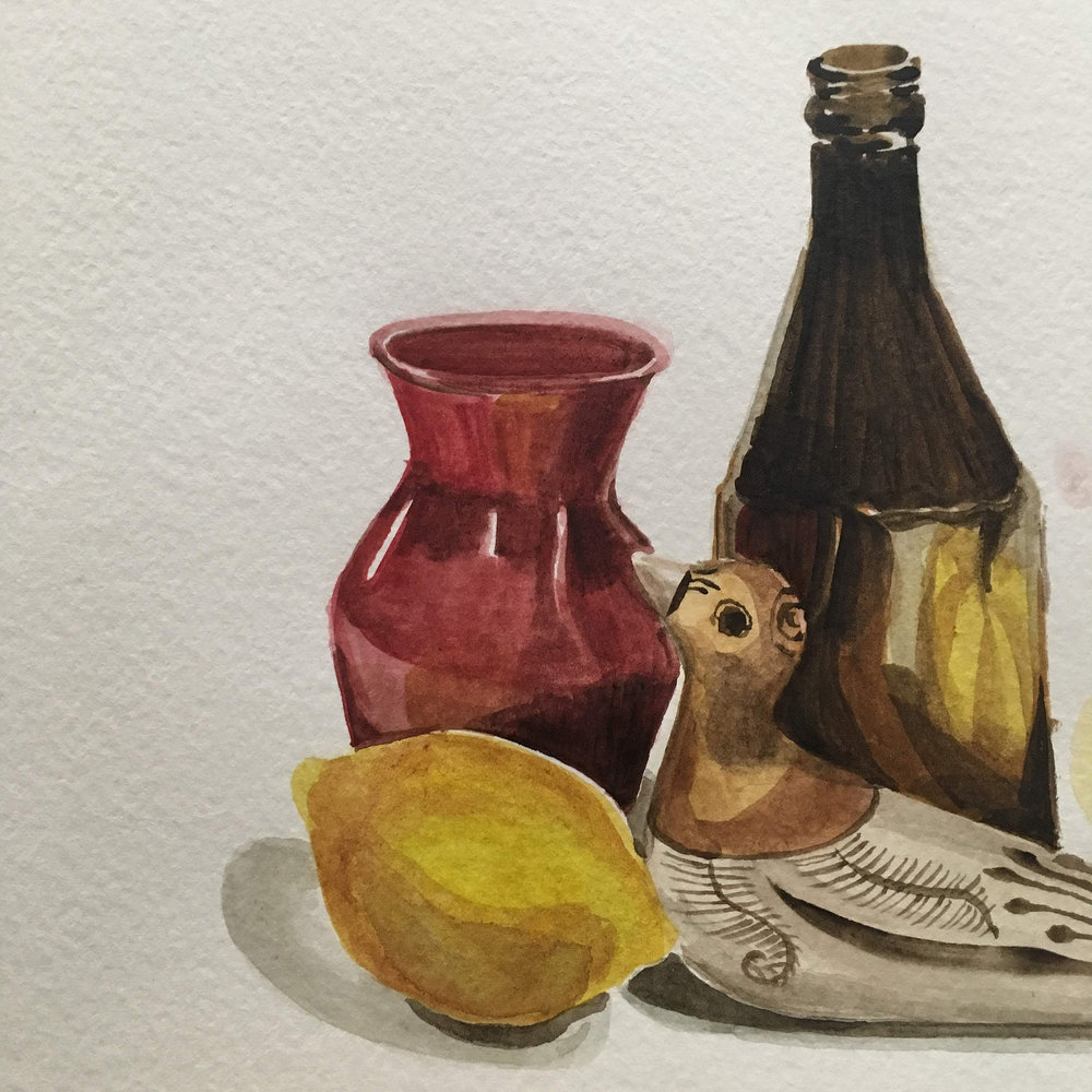 Introduction to Watercolor Still Life, Taught by Roan Victor, Sunday, Dec. 16 (11:30 AM to 1 PM) -
