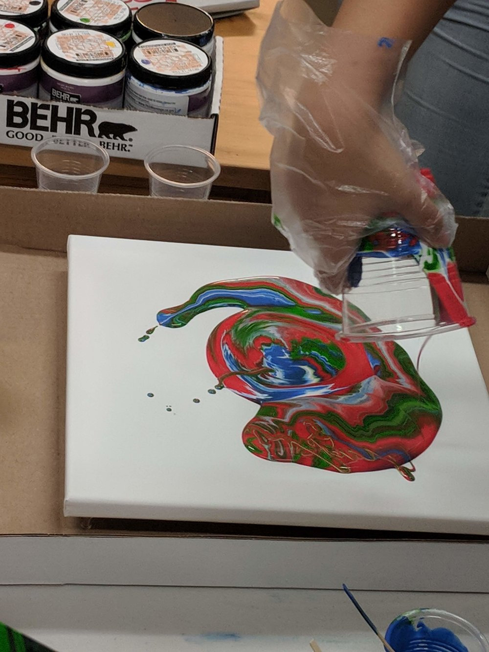 Liquid Flow Painting Workshop, Taught by Elton Glover, Saturday, Dec. 15 (1 PM to 2:30 PM) - The workshop (more like a class) is intended to introduce people to creating liquid flow paintings! By the end of class, participants will walk away with a unique 12