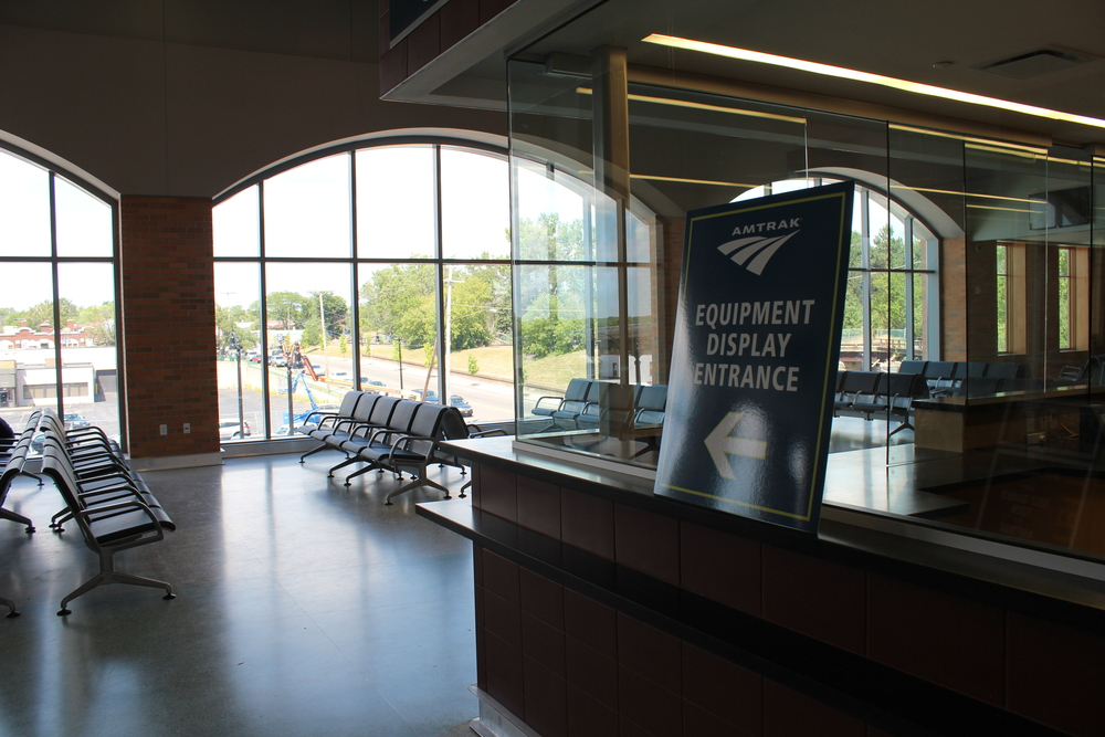 Upstairs Tickets and Baggage Lobby at New Niagara Falls NY Amtrak Station