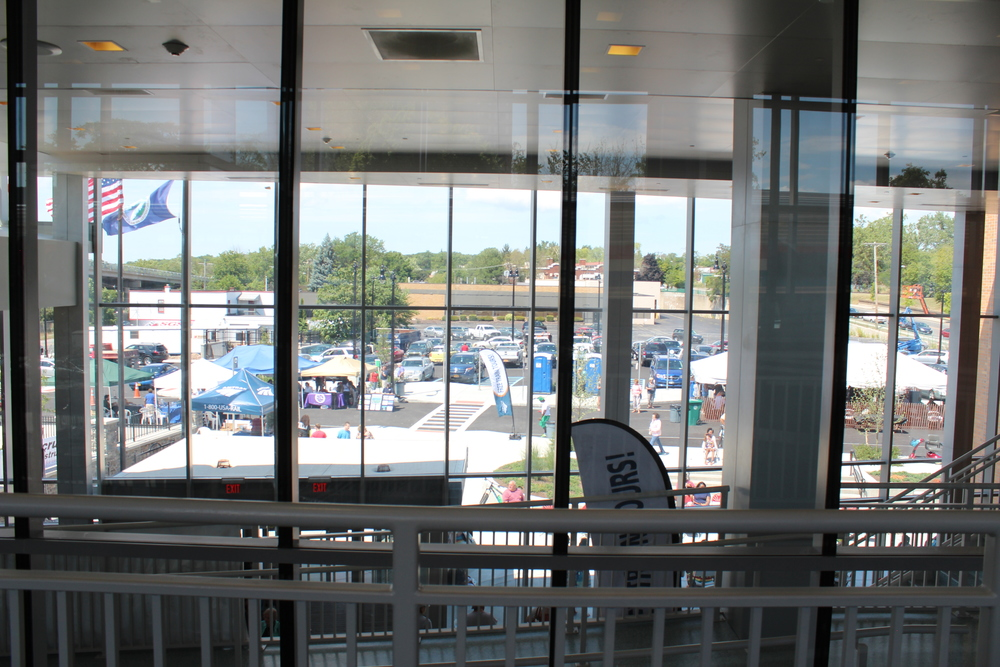 View from Primary Inpections Passenger Waiting Area at New Niagara Falls NY Amtrak Station