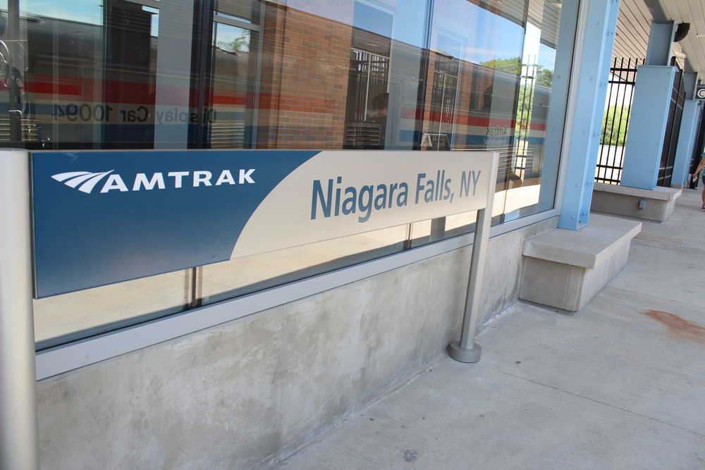Train Platform at New Niagara Falls NY Amtrak Station
