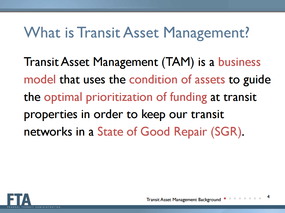 Transit Asset Management Definition