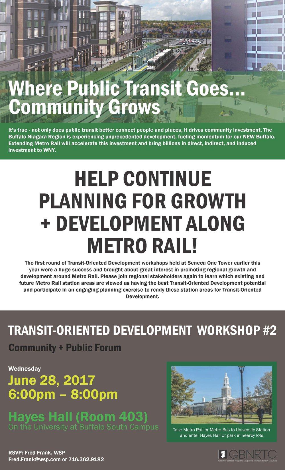TRANSIT-ORIENTED DEVELOPMENT WORKSHOP - COMMUNITY GROUPS AND PUBLIC SESSION