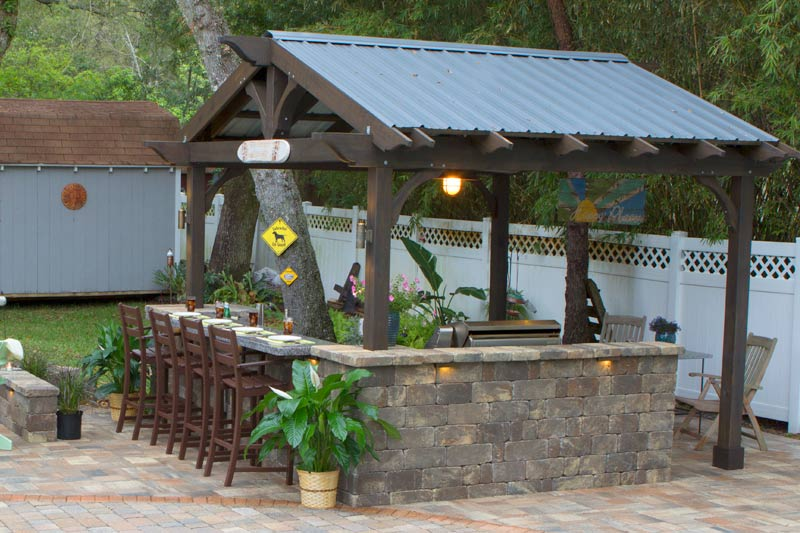 Pergola Images Part - 17: Call It A Cabana If You Must, Just Donu0027t Call It Late For Dinner! Our  Newest Pergola Design Protects You From All The Elements So A Little Rain  Doesnu0027t ...