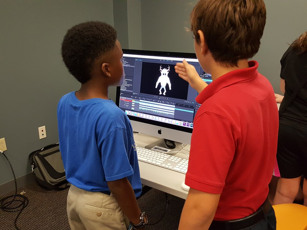 Students give life to 2D characters using Adobe Character Animator!