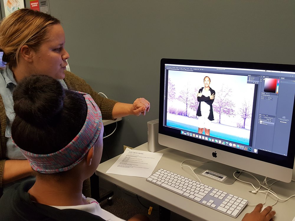 Croppin' and Photoshoppin' with guest instructor visual artist Leah Graeff.