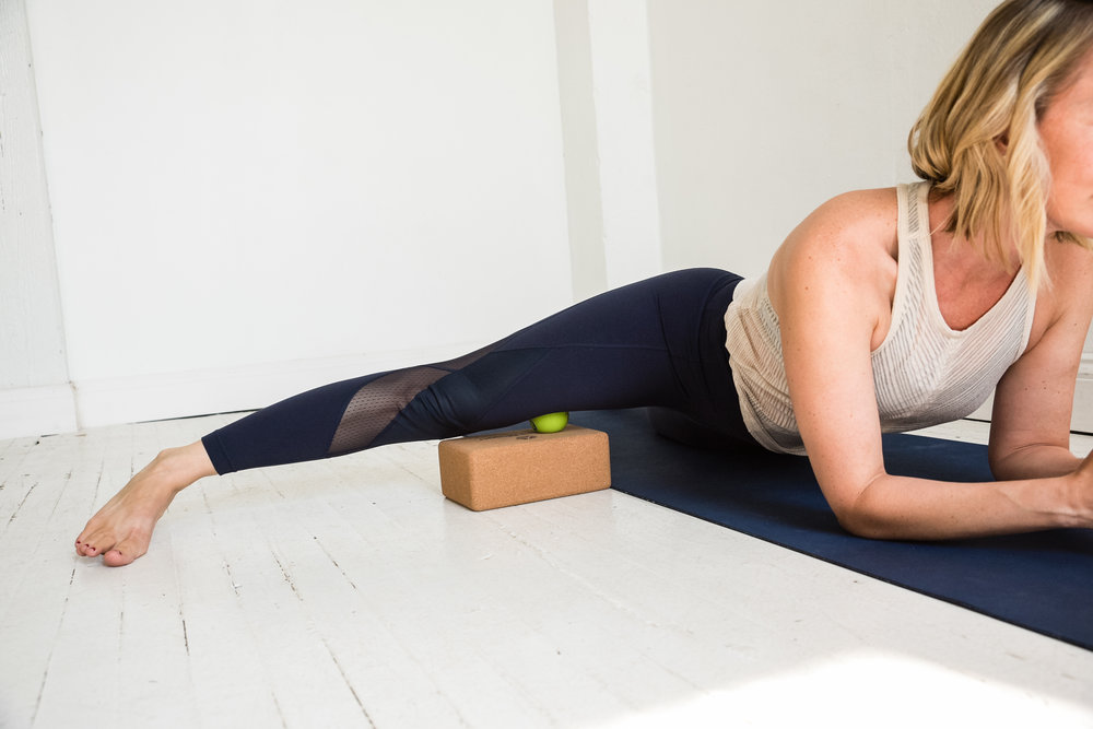 Rolling inner thigh with straight leg
