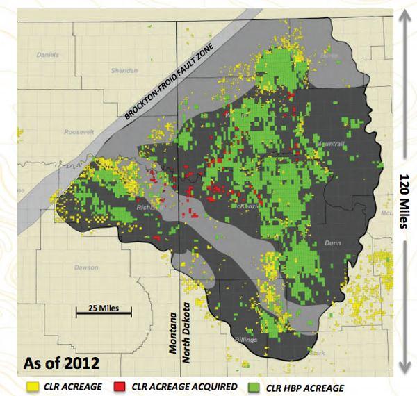 Continental Resources Bakken Shale Map
