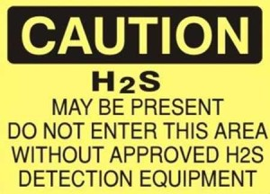H2S Warning Sign