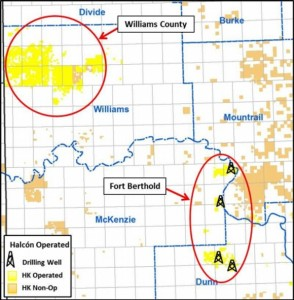 Halcon Bakken Acreage Map