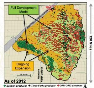 Continental Resources Bakken Development Map
