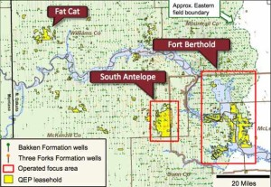 QEP Resources Bakken Three Forks Acreage Map
