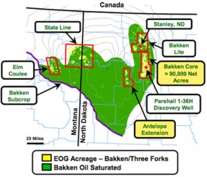 EOG Resources Bakken Map