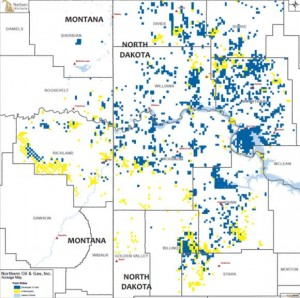 Northern Oil & Gas Bakken Acreage Map