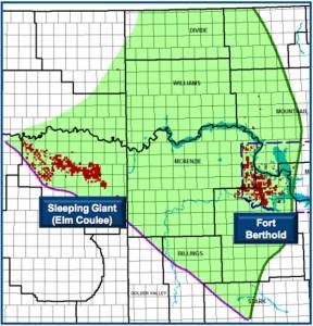 Enerplus North Dakota Acreage Map