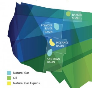 WPX Energy Rockies Asset Map