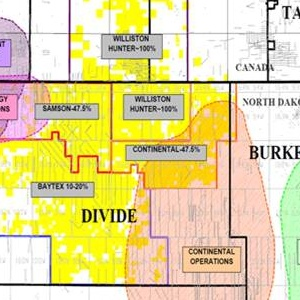 Magnum Hunter Resources' Bakken Acreage Map