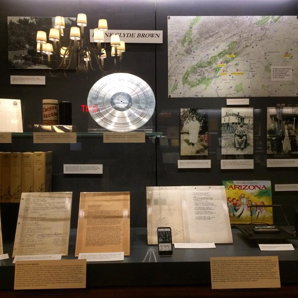 NC Jukebox exhibit in Duke University's Rubenstein Library