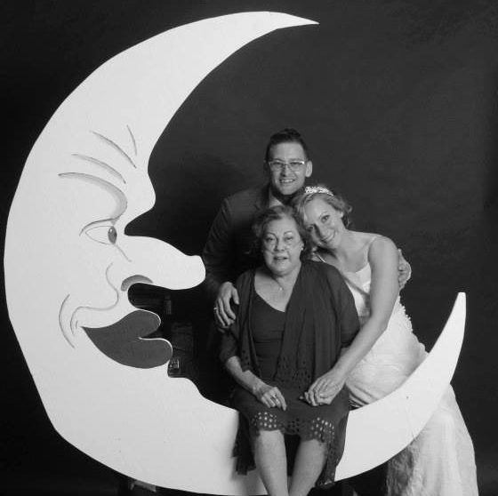 Mom, my fiancee and I at our wedding: June 2013