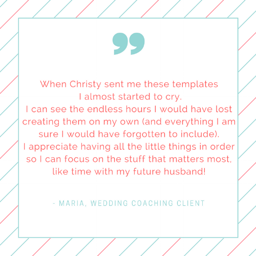 diy wedding planning template kit christy decatur event planning