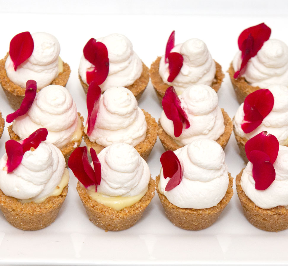 Miniature Banana Cream Pies with graham cracker crust, vanilla bean pastry cream, bananas, and whipped cream  - Photo credit Clay Williams
