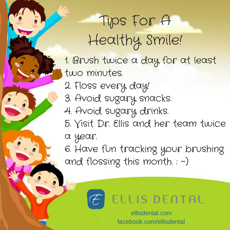 Ellis Dental Tips to help kids with brushing.