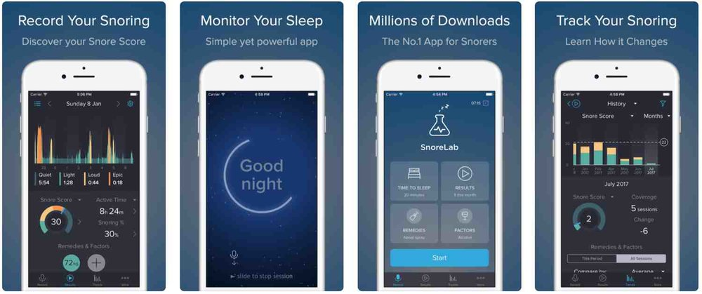 Snore Lab App for Apple iPhone - Ellis Dental