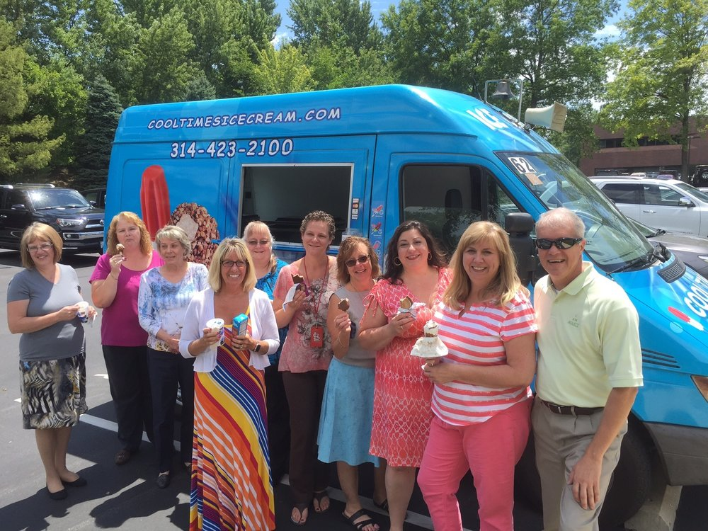 Our staff with Shawn Schwiderski enjoying a treat thanks to Acuity!