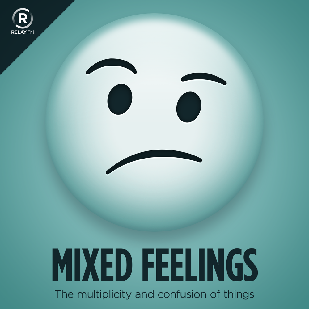 Mixed Feelings - Every episode, we talked about select news, politics, and pop culture stories. It was often described by our listeners as a tool to help them process a vicious news cycle through a conversation between friends. You can stream a sample episode from January below.Find Mixed Feelings here or in your podcast player of choice.