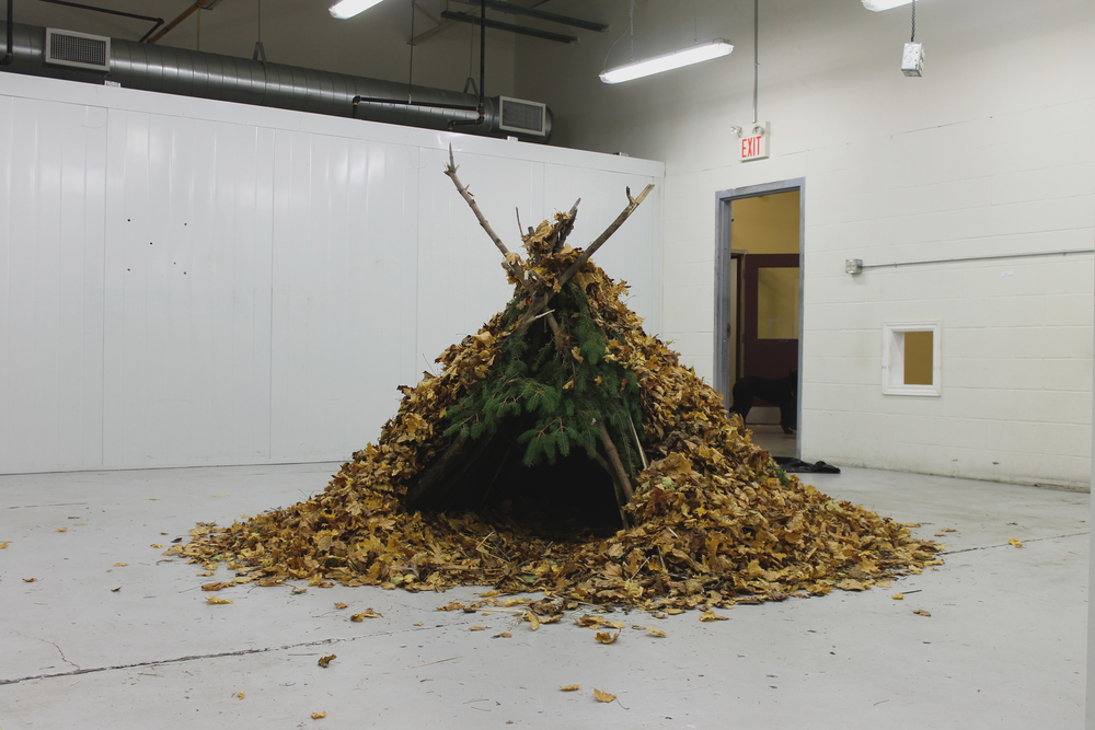 Debris Hut, 2014, foraged natural material and green waste