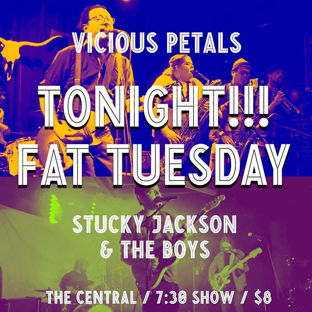 Welp, sometimes, things change in the 11th hour... very happy to have @stuckyjackson joining us tonight for Pioneer Square Fat Tuesday @centralsaloon! Come get yer boogie (and hurricanes 😉🍹) on! 💥🔥💥🔥