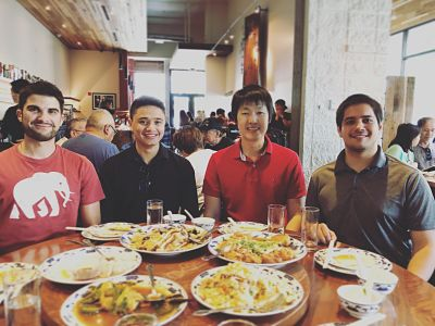 Nick (UCLA), Jose (UC Davis), Yen-Chang (Lam Research), Andrew (UCLA), and Taka (Panasonic Inc.)