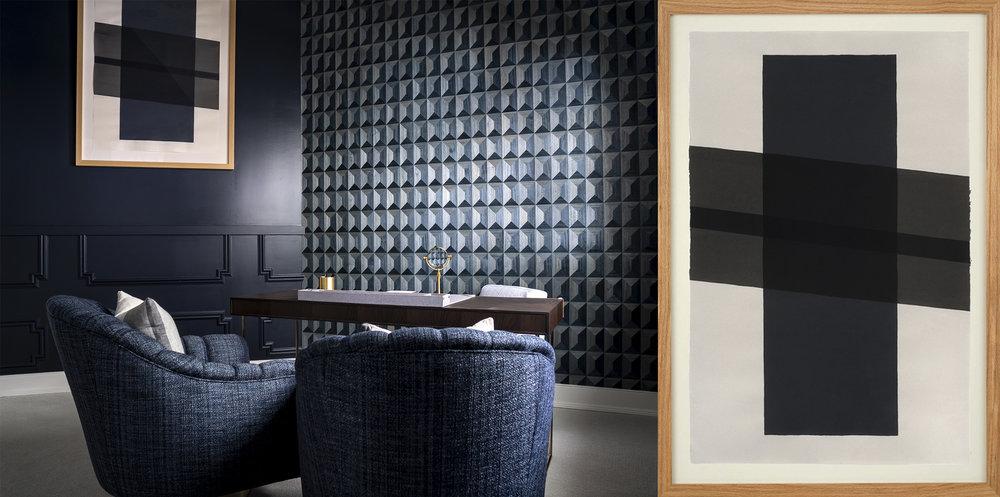 Horizons (indigo) - Interior design by Design Works Home