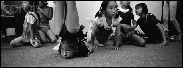 Ulaanbaatar, Mongolia --- Mongolia, Ulaan Bator, School of contortion --- Image by © Bruno Morandi/Corbis